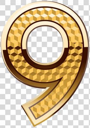 Icon Number Clip Art - Gold Number Nine Clip Art Image PNG