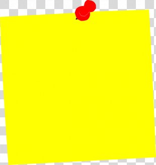 Post-it Note Paper Clip Art - Yellow Square Cliparts PNG