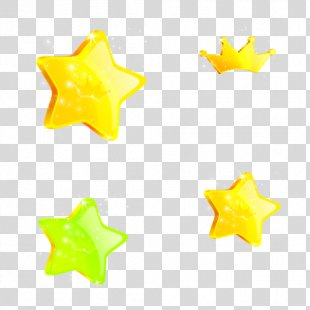 Star Yellow Gold Number - Star PNG