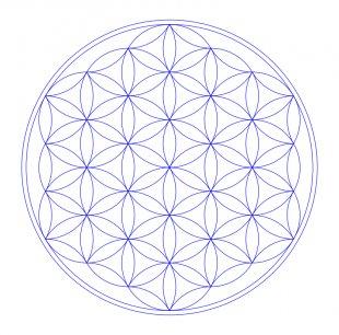 Overlapping Circles Grid Sacred Geometry Tree Of Life Mandala Metatron - Tree Of Life Vector PNG