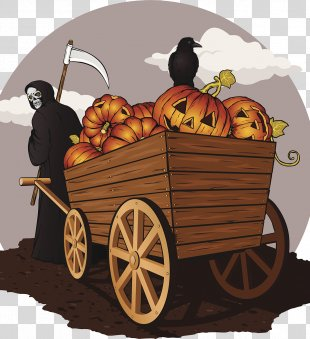 Death Halloween Poster Illustration - Halloween Poster PNG