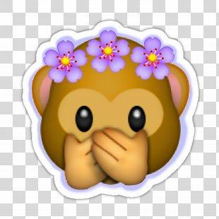 Emoji Sticker Wreath Flower Crown - Emoji PNG