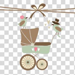 Wedding Invitation Baby Shower Postcard Greeting Card Bridal Shower - Baby Background Bird Car PNG