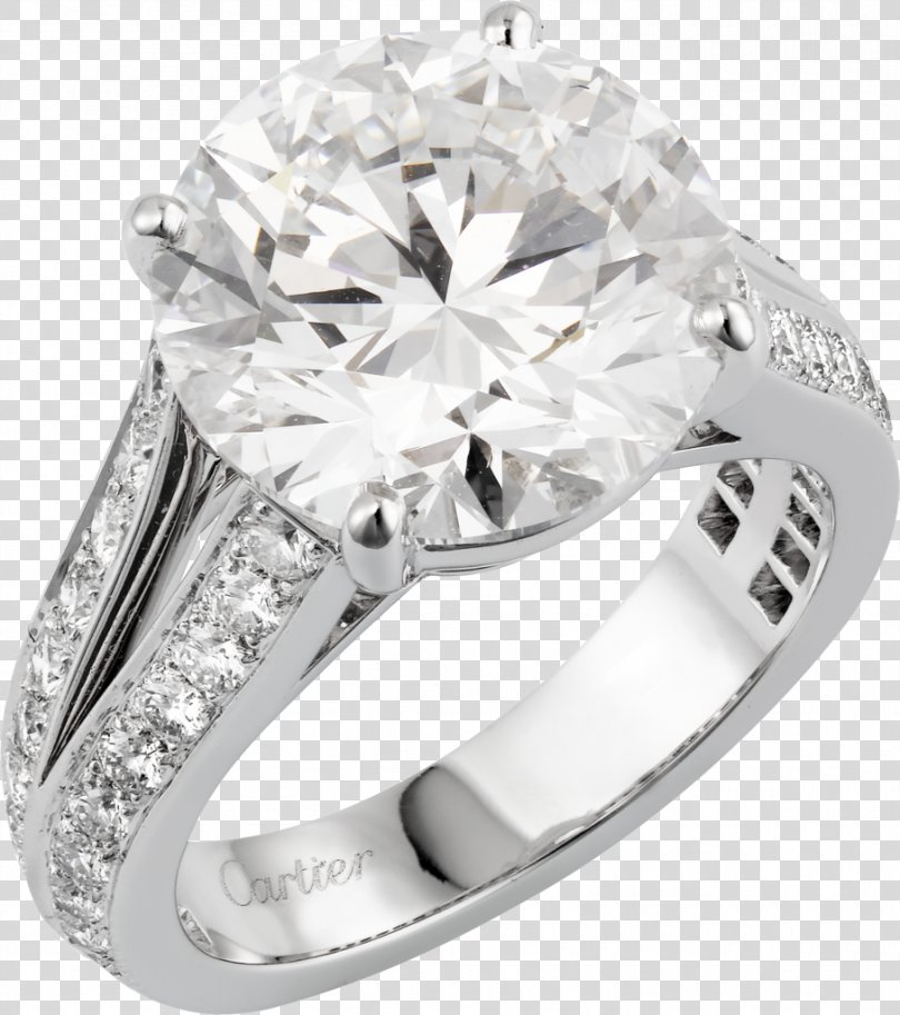 Ring Jewellery Brilliant Diamond Carat, Platinum Ring PNG