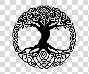 Tree Of Life Steel Tongue Drum Witchcraft Celtic Sacred Trees - Black Tree Of Life Tattoo PNG