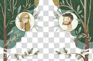 Wedding Invitation Marriage Convite Illustration - Trees Wedding Invitation PNG