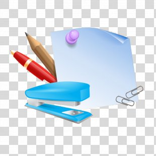 Paper Clip Stapler Notebook - Paper Notes With Stapler PNG