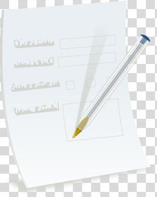 Paper Ballpoint Pen Fountain Pen Information - Paper Sheet PNG