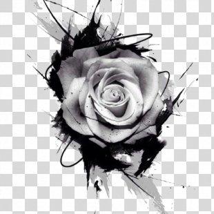 Tattoo Drawing Rose Pink - Rose Tattoo Pattern PNG