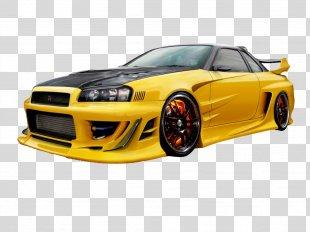 Fast Racing Car Nissan Skyline GT-R Car Rental - Skyline PNG