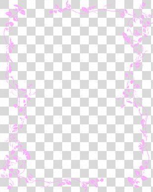 Borders And Frames Flower Clip Art - Pink Borders Cliparts PNG