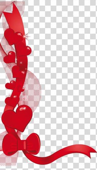 Valentine's Day Heart Gift Clip Art - Valentine PNG