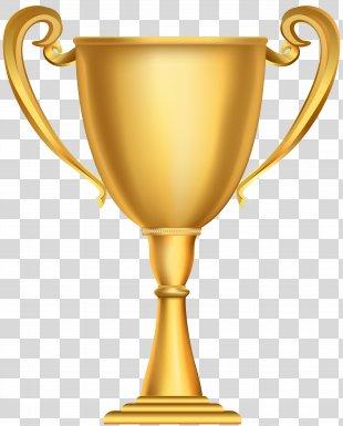 Trophy Gold Medal Award Clip Art - Gold Cup Trophy Clip Art Image PNG