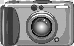 Digital Cameras Photography Clip Art - Cartoon Camera PNG