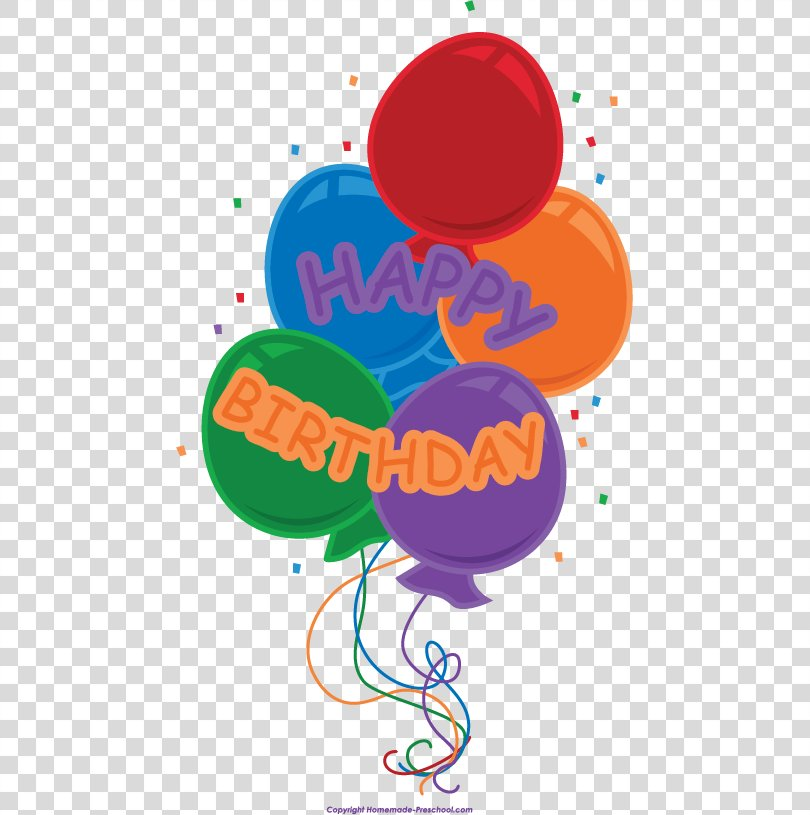 Birthday Balloons Clip Art Party, Happiness Homemade PNG