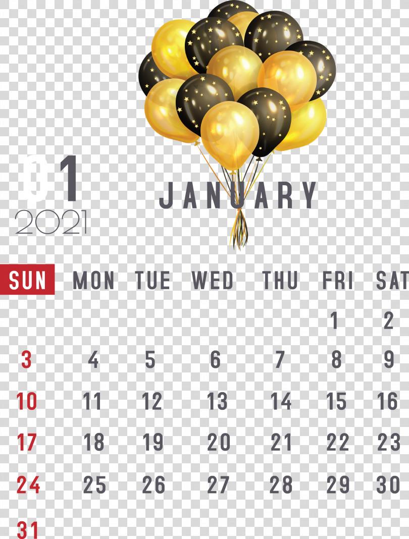 January 2021 Printable Calendar January Calendar PNG