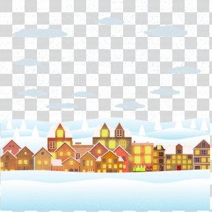 Christmas Poster Illustration - Snow Illustration PNG