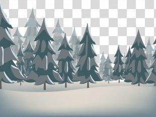 Snow Winter Euclidean Vector Santa Claus - Winter Pine PNG