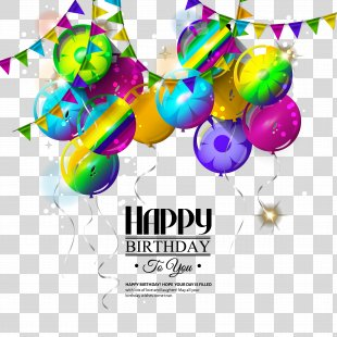 Happy Birthday To You Greeting Card Illustration - Happy Birthday Theme Vector Material PNG