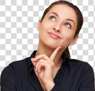 Thought Person Bing Question - Thinking Woman PNG