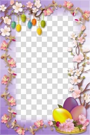 Easter Bunny Easter Egg Egg Hunt - Easter Egg Border PNG