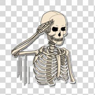 Skeleton Sticker Bone Telegram It - Skeleton PNG