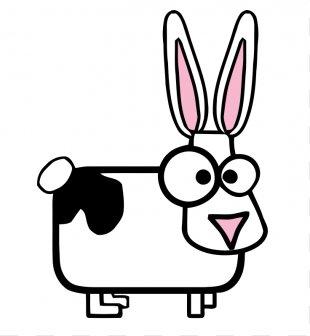 Easter Bunny Hare Rabbit Cartoon Clip Art - Bunny Ears Clipart PNG