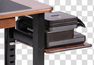 Desk Table Computer Printer Office - Desk Accessories PNG