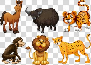 Animal Clip Art - Cute Animal Cartoon Figure PNG