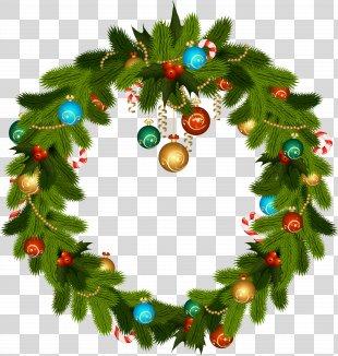 Christmas Ornament Wreath Stock Photography Clip Art - Christmas Wreath And Ornaments Clip Art PNG