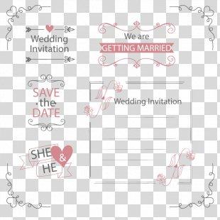 Wedding Invitation Marriage - Vector Wedding Invitation PNG