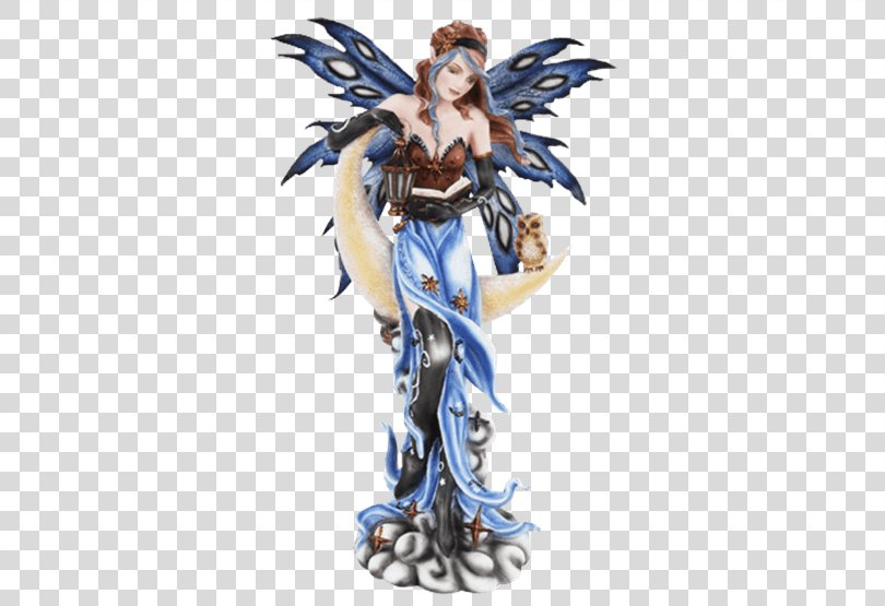 The Fairy With Turquoise Hair Sculpture Statue Figurine, Fairy PNG