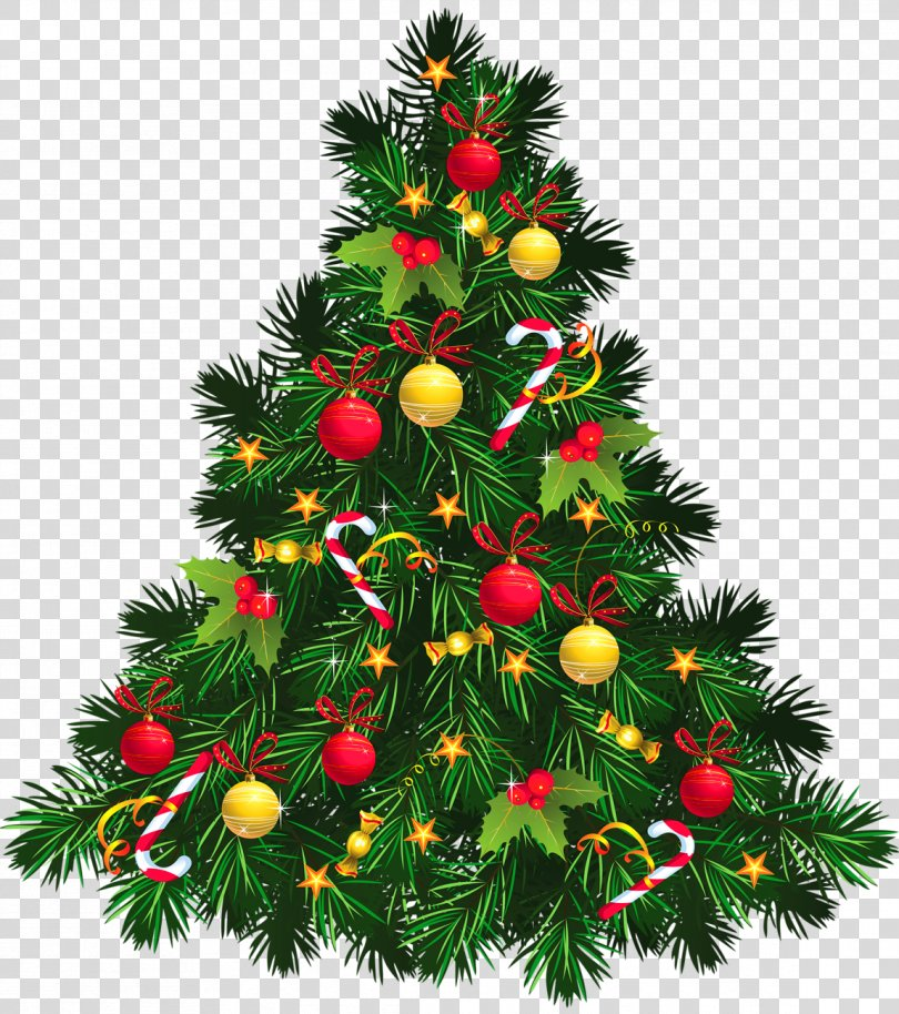 Christmas Tree Christmas Decoration Clip Art, Transparent Christmas Tree With Ornaments Picture PNG