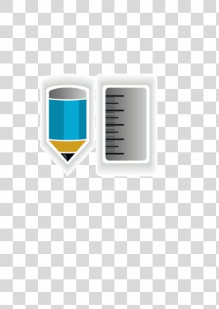 Ink Brush Pencil Ruler Illustration - Vector Pen And Ruler PNG
