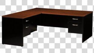 Desk Table Office Furniture - Desk Office PNG