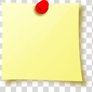 Post-it Note Drawing Pin Icon - Sticky Note PNG