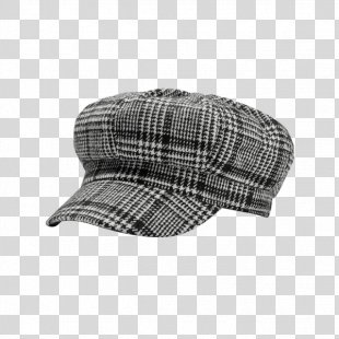 Cap Hat Houndstooth Pattern Wool - Cap PNG