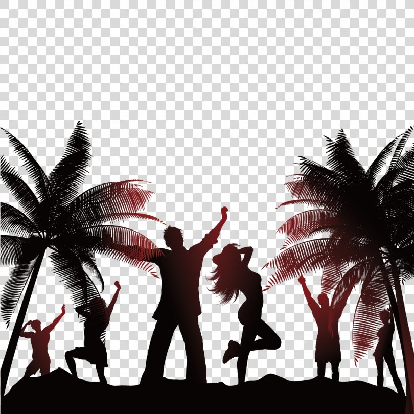 Beach Party Stock Photography Illustration, Beach Vacationers PNG