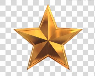 Gold Star Clip Art - 5 Star PNG