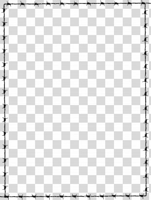 Borders And Frames Document Clip Art - Barbwire PNG