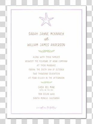 Wedding Invitation Paper Marriage In Memoriam Card Place Cards - Wedding Invitation Paper PNG