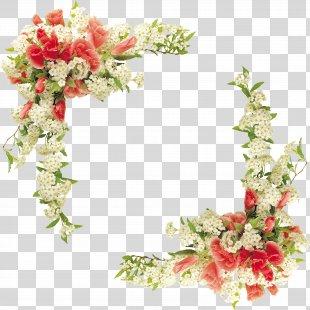 Border Flowers Floral Design - Floral Border Design Vector PNG