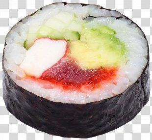 California Roll Sashimi Sushi Gimbap Vegetarian Cuisine - Sushi PNG