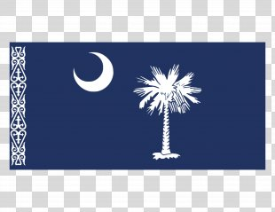 Flag Of South Carolina State Flag Black American Revolutionary War - Flag PNG