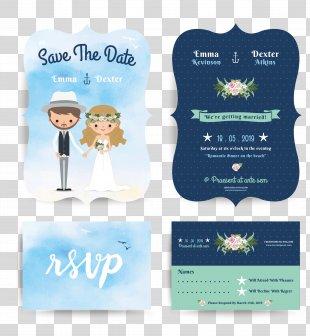 Wedding Invitation - Cartoon Wedding Invitation Design PNG