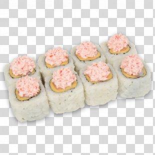 Sushi California Roll Japanese Cuisine Makizushi Pizza - Sushi Roll PNG