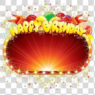 Birthday Cake Happy Birthday To You Clip Art - Happy Birthday Frame PNG