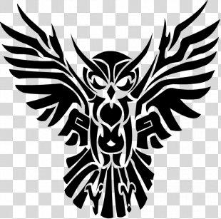 Tribe Tattoo Owl Clip Art - Owl PNG