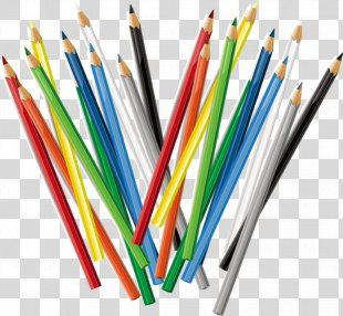 Colored Pencil - Colored Pencils Pattern PNG