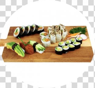 California Roll Sushi Makizushi Vegetarian Cuisine Onigiri - Sushi Takeaway PNG
